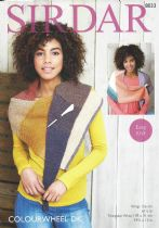 Sirdar Colourwheel DK - 8033 Wrap & Triangular Wrap Knitting Pattern